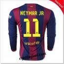 Maillot Fc Barcelone (Neymar Jr 11) Manche Longue 2014-15 Domicile Fr