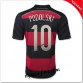 Maillot Foot Allemagne (Podolski 10) 2014 2015 Extérieur