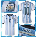 Maillot Foot Argentine Messi 2014-15 Domicile