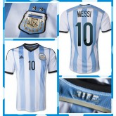 Maillot Foot Argentine Messi 2014-15 Domicile