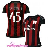 Maillot Foot Balotelli 2015-2016 Ac Milan Maillots Balotelli Femme 2015-2016 Game Domicile