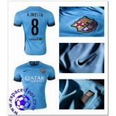 Maillot Foot Barcelone (8 A.Iniesta) 2015-16 Troisième Livraison Gratuite