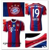 Maillot Foot Bayern Munich Gotze 2014/15 Domicile Fashion