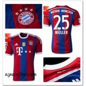 Maillot Foot Bayern Munich Muller 2014/15 Domicile Shop France