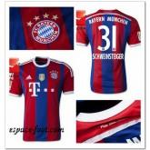 Maillot Foot Bayern Munich Schweinsteiger 2014 15 Domicile Rabais
