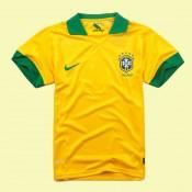 Maillot Foot Brésil 2014-2015 Domicile Nike Personnaliser Pas Cher Nice