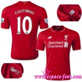 Maillot Foot Coutinho 2015 2016 Liverpool Maillot Coutinho 2015 2016 Game Domicile France