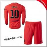 Maillot Foot Fc Barcelone Enfant Trousse (Messi 10) 2014 15 Manche Longue Extérieur Nouveau