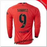 Maillot Foot Fc Barcelone (Suarez 9) Manche Longue 2014 2015 Extérieur