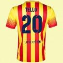 Maillot Foot Fc Barcelone (Tello 20) 2015/16 Extérieur Nike Floqué Pas Chere