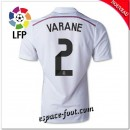 Maillot Foot Fc Real Madrid (Varane 2) 2014 2015 Domicile
