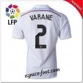 Maillot Foot Fc Real Madrid (Varane 2) 2014 2015 Domicile