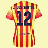 Maillot Foot Femmes Fc Barcelone (Jonathan Dos Santo 12) 2014-2015 Extérieur Nike Achat
