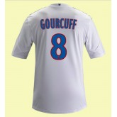 Maillot Foot Lyon (Yoann Gourcuff 8) 2015/16 Domicile Adidas Retro Boutique En Ligne