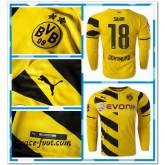 Maillot Foot Manche Longue Dortmund Sahin 2014 2015 Domicile En Solde