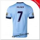 Maillot Foot Manchester City (Milner 7) 2014 2015 Domicile