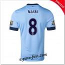 Maillot Foot Manchester City (Nasri 8) 2014-15 Domicile Magasin Paris