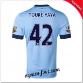 Maillot Foot Manchester City (Toure Yaya 42) 2014-15 Domicile Fr