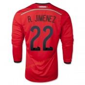 Maillot Foot Mexique 2014 Coupe Du Monde R.Jimenez Manche Longue Exterieur Soldes France