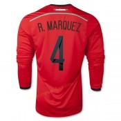 Maillot Foot Mexique 2014 Coupe Du Monde R.Marquez Manche Longue Exterieur Authentique