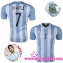 Maillot Foot Pascher - Maillots Foot Argentine Di Maria 2015 Race Domicile