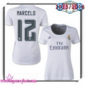 Maillot Foot Real Madrid Fc Marcelo 2015/2016 Femme Domicile Maillot De Football Faire Une Remise