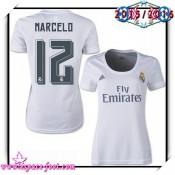 Maillot Foot Real Madrid Fc Marcelo 2015/2016 Femme Domicile Maillot De Football Faire Une Remise