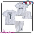 Maillot Foot Real Madrid Fc Ronaldo 2015 16 Enfant Kits Domicile T Shirt 2015/2016 Marseille