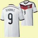 Maillot Football Allemagne (Schurrle 9) 2014 World Cup Domicile Adidas