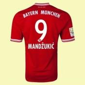 Maillot Football Bayern Munich (Mandzukic 9) 2015/16 Domicile Vendre À Des Prix Bas
