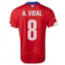 Maillot Football Chili 2014 Coupe Du Monde A.Vidal Domicile Nice