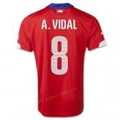 Maillot Football Chili 2014 Coupe Du Monde A.Vidal Domicile Nice