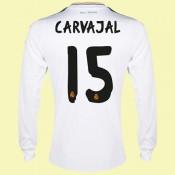 Maillot Football Manches Longues Real Madrid (Carvajal 15) 2014-2015 Domicile Vendre À Des Prix Bas