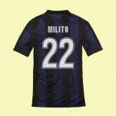 Maillot Inter Milan (Milito 22) 2015/16 Domicilee Soldes Provence