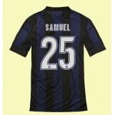 Maillot Inter Milan (Samuel 25) 2014-2015 Domicile Nike Soldes Marseille