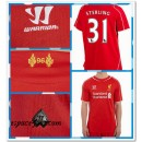 Maillot Liverpool Sterling 2014-15 Domicile Rabais