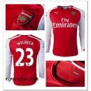 Maillot Manche Longue Arsenal Welbeck 2014 2015 Domicile