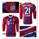 Maillot Manche Longue Bayern Munich Lahm 2014 2015 Domicile Achat