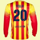 Maillot Manches Longues Fc Barcelone (Tello 20) 15/16 Extérieur Nike Avec Flocage Soldes
