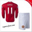 Maillot Manchester United Enfant Trousse (Giggs 11) 2014 15 Manche Longue Domicile