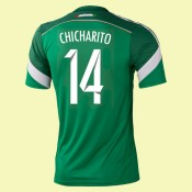 Maillot Mexique (Chicharito 14) 2014 World Cup Domicile Adidas Avec Flocage Soldes Avignon