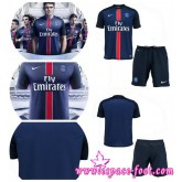 Maillot Psg 2015/2016 Enfant Kits Domicile T-Shirt En Shorts Paris-Sg Baby Kits (Ibrahimovic / Cavani / Thiago Silva) France Site Officiel