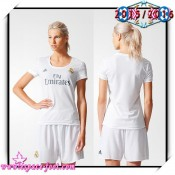 Maillot Real Madrid Fc 2015/16 Femme Domicile Vente Maillots Foot Magasin Lyon