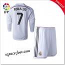 Maillot Real Madrid Fc Enfant Trousse (Ronaldo 7) 2014/15 Manche Longue Domicile Ventes Privees