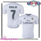 Maillot Real Madrid Fc Ronaldo 2015-2016 Domicile Maillot Foot