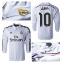 Maillot Real Madrid Ml James 2014 2015 Domicile
