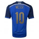Maillots Argentine 2014 Coupe Du Monde Messi Exterieur
