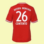 Maillots Bayern Munich (Contento 26) 2014-2015 Domicile Adidas Pas Cher France