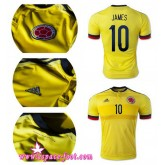 Maillots De Foot - Maillot Foot Colombie James 2015 Game Domicile Vente En Ligne