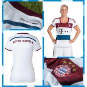 Maillots De Football Bayern Munich Femmes 2014 15 Extérieur Lyon